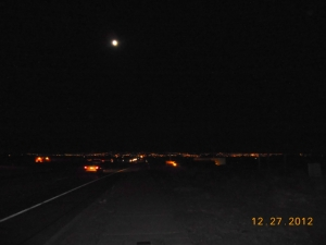 Moon from mesa