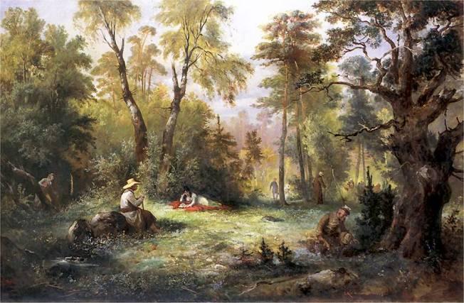 KostrzewskiFranciszek.Grzybobranie.1860