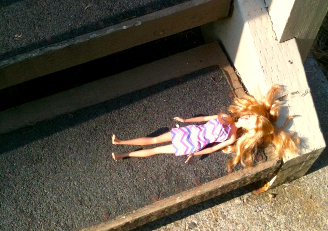 Barbie on steps